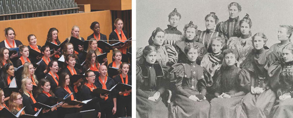 The Syracuse Women's Choir, now and then.