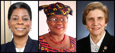 Ursula M. Burns, Ngozi Okonjo-Iweala, and Ellen Mosley-Thompson