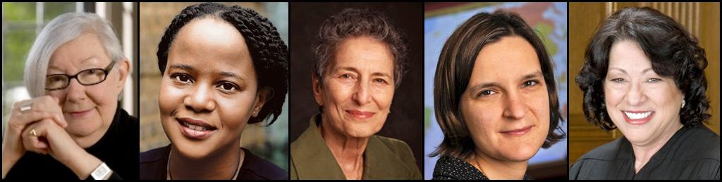 Elizabeth A. Clark, Edwidge Danticat, Natalie Zemon Davis, Esther Duflo, and Sonia Sotomayor