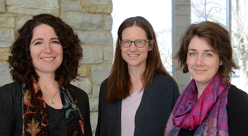New associate professors  Rebecca Tiger, Svea Closser, and Florence Feiereisen