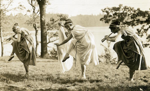 Three students at Wellesley College, 1912