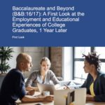 The Economic and Educational Status of Women One Year After Earning Their Bachelor's Degree
